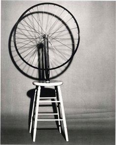 Bicycle wheel by Marcel Duchamp (1913)
